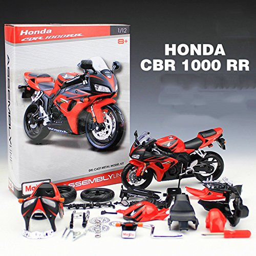 Diecasts & Toy Vehicles - 1:12 Motorcycle Toy Honda CBR 1000RR Simulation Model HUKAZ Assembled Motor Car Kids Educational Toys Kits - by HUKAZ - 1 PCs from HUKAZ