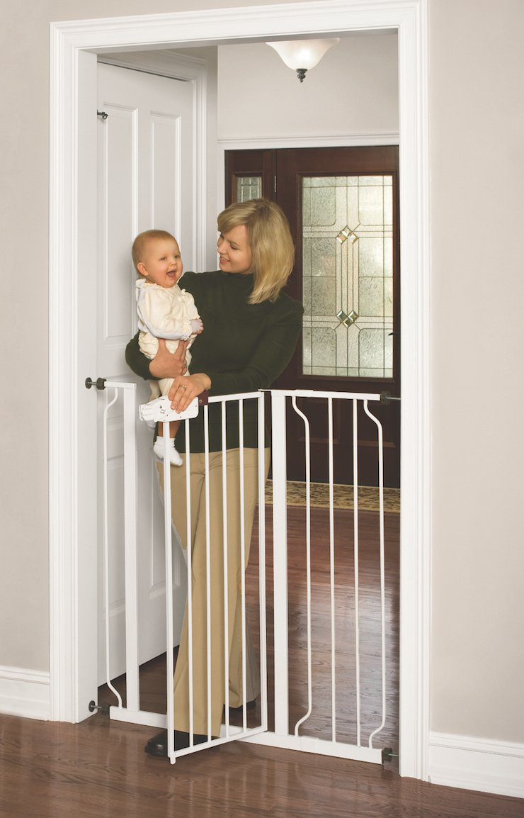 Charmant Regalo Easy Step Extra Tall Walk Thru Gate, White