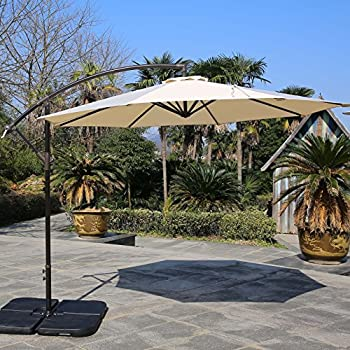 offset patio umbrella base weights umbrellas at lowes stand weight outdoor living ft hanging beige