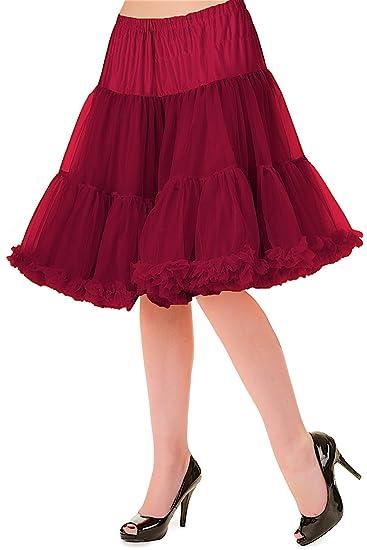 Banned - Falda - Enaguas - para Mujer Red - Burdeos M/L: Amazon.es ...