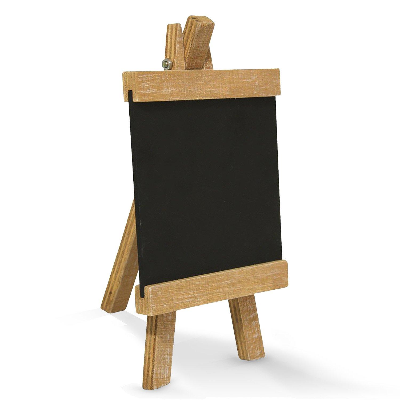 Pequeña pizarra en madera de caballete (10 x 18 cm); como ...