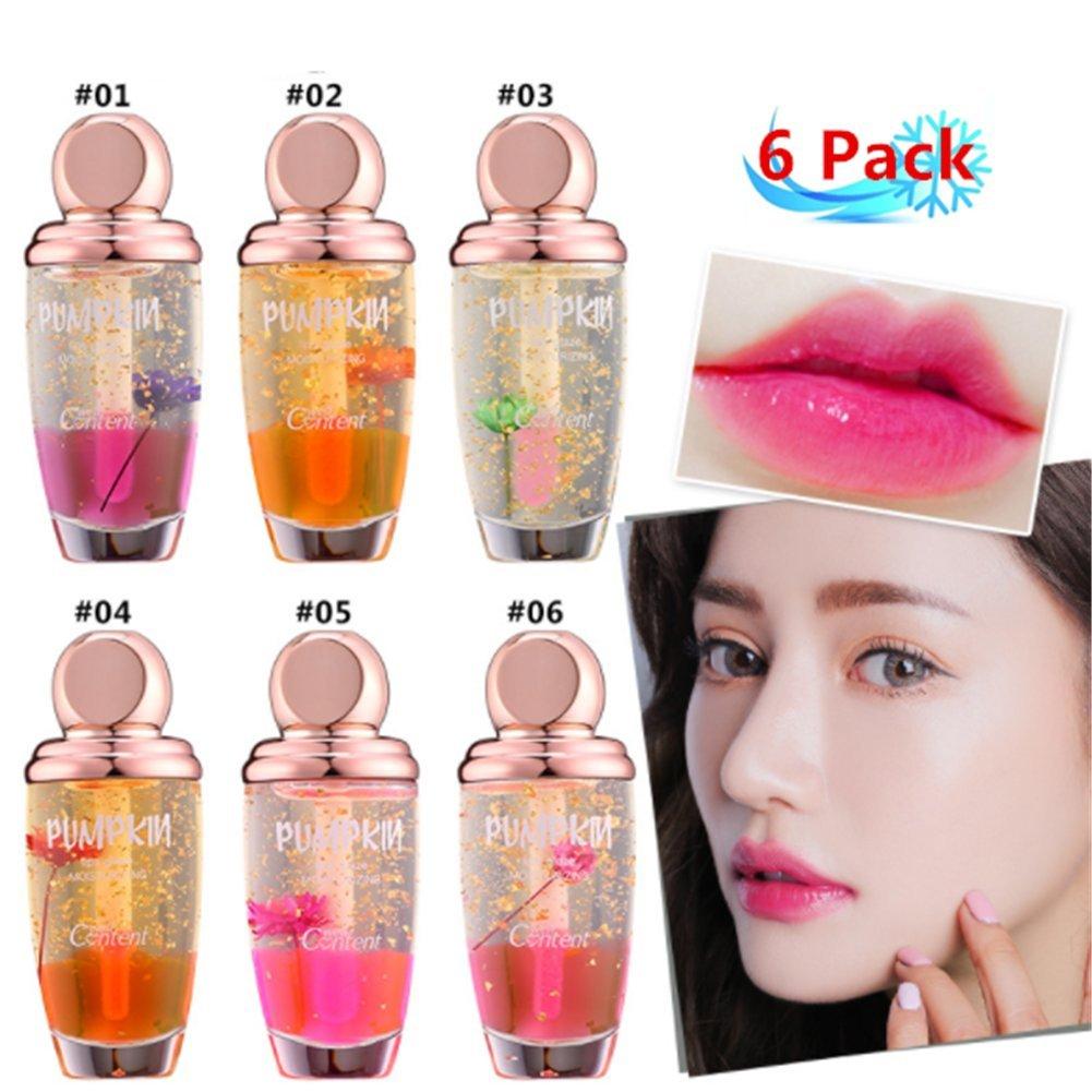 Petansy Flower Lip Gloss Set Jelly Moisturizer Lip Gloss Waterproof Long Lasting Liquid Lipstick