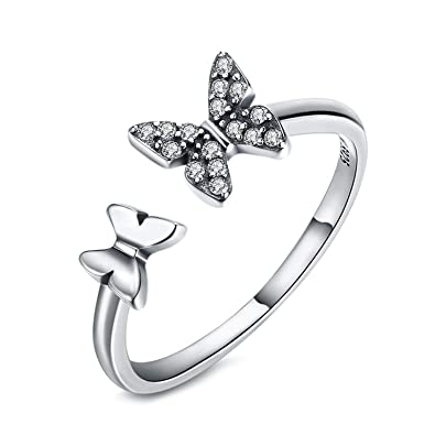 925 Silver Adjustable Cross Opening Ring for Women Men Gift Jewelry Party