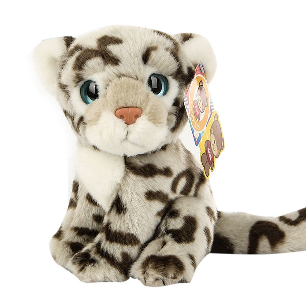 Amazon Com Bestlee Realistic Snow Leopard Baby Plush Stuffed Animal