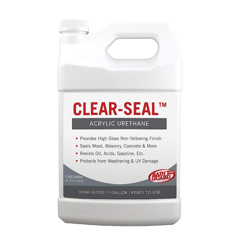 Rainguard International CU- 0101 Seal Acrylic Urethane Coating High Gloss 1 gal (Ready to Use), Clear Coat Sealant