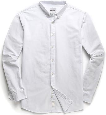 MOCOTONO Camisa Casual para Hombre 100% Algodón Oxford Manga Larga: Amazon.es: Ropa y accesorios
