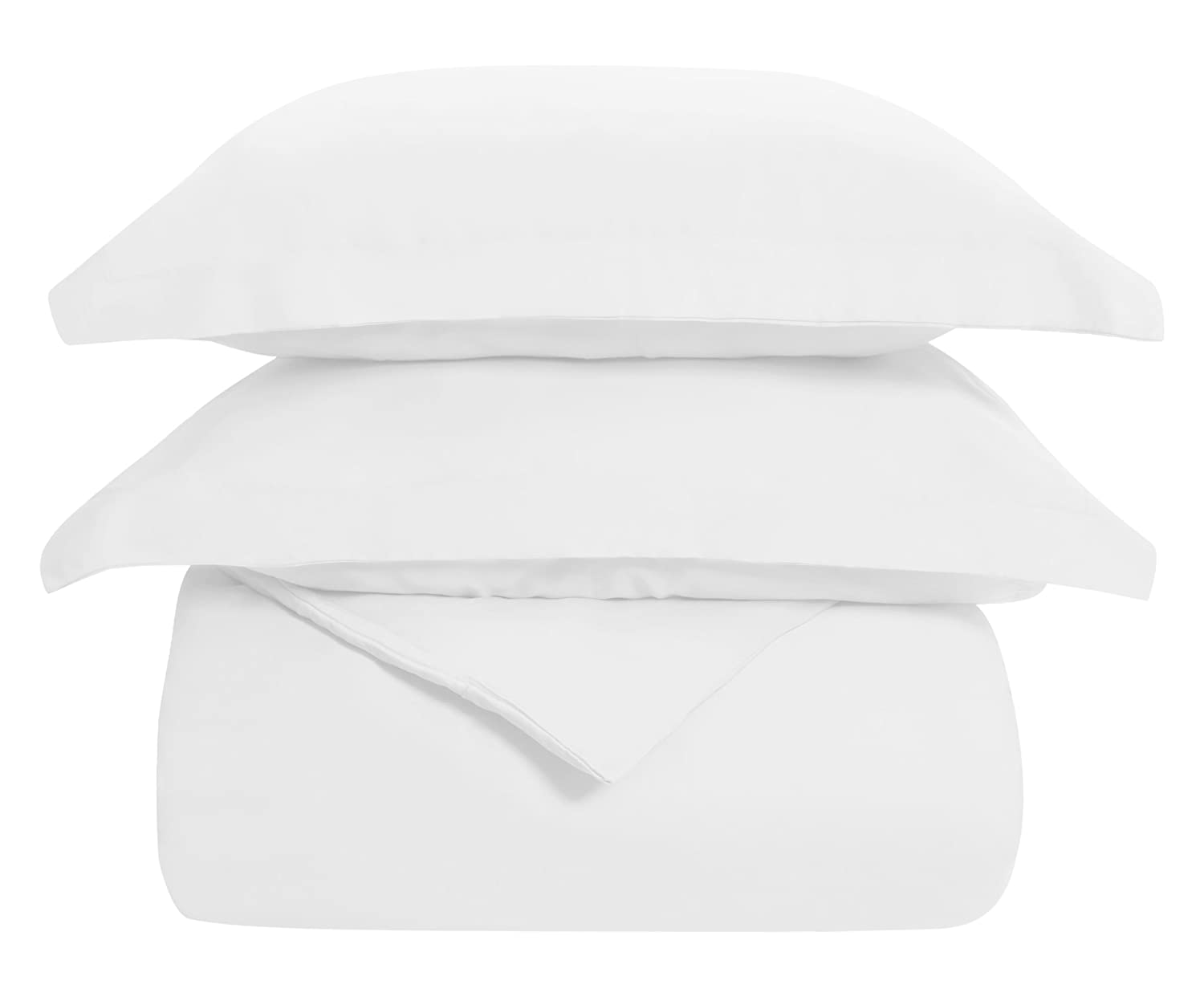 (Twin, White) Superior 100% Cotton, 300 Thread Count Wrinkle Resistant, Easy-Care 2-Piece Twin Duvet Cover Set, White B01N3Q9OIB ツイン|ホワイト ホワイト ツイン