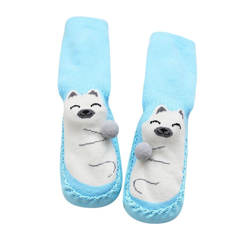 SMALLE ◕‿◕ Clearance,Cartoon Newborn Baby Girls Boys Anti-Slip Socks Slipper Bell Shoes Boots SB/L