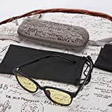 YJWB computer glasses, anti-glare fatigue and dry eye readers, harmful blue eyes protection