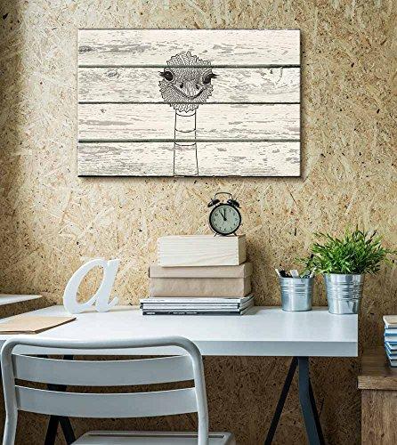 Zentangle Ostrich Artwork Rustic