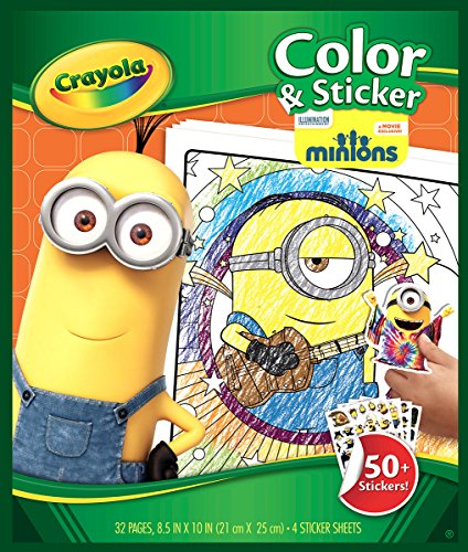 Crayola Color Sticker Pages Minions