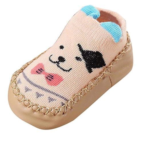 a4fd12901 Mitlfuny Niños Niñas Invierno Otoño Zapatillas Calcetines de Piso Infantil  Cálida Tejer Calzado Ojo Dibujos Animados
