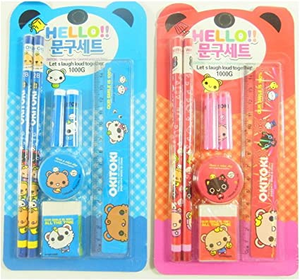 Bolsa Party Pack de 2 Kawaii Papelería Set - Okitoki 7 piezas Set ...