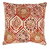 Pillow Perfect Summer Breeze 24.5-Inch Floor Pillow, Crimson