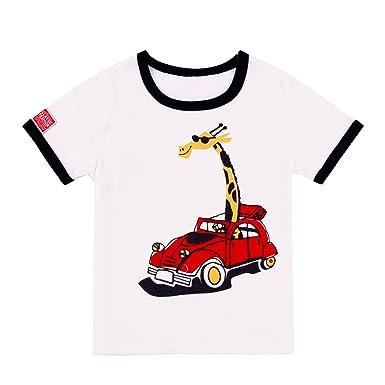7d78ae467b0835 Chic-Chic Tee Shirt Manche Court Top Bébé Fills Garçon Haut Pull-Over  Blouson
