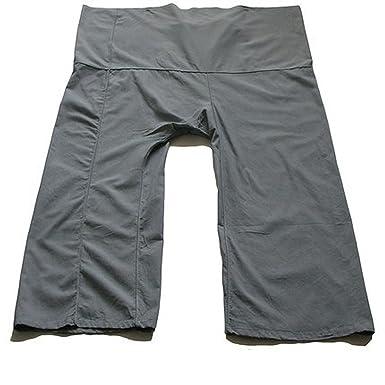Amazon.com: Bonito color gris pizarrón gris Yoga Pants Thai ...
