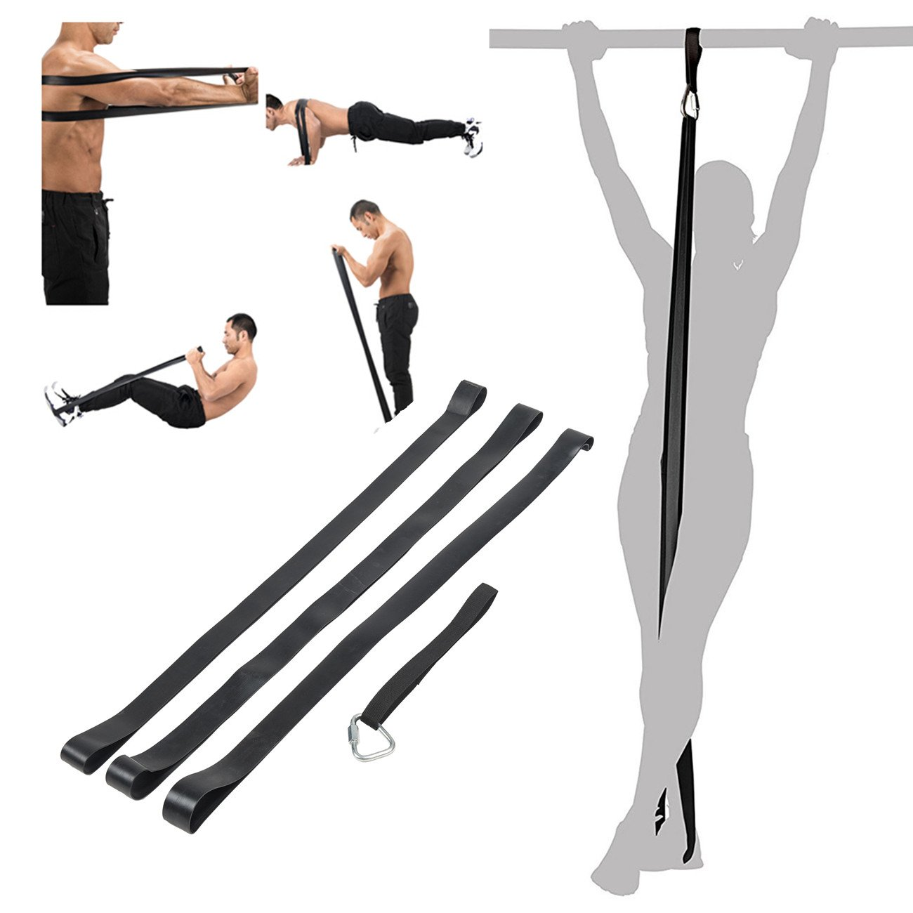 Z ZELUS 3PCS Pull Up Assistance Bands Mobility & Powerlifting Exercise Resistance for Body Fitness Bands by Z ZELUS