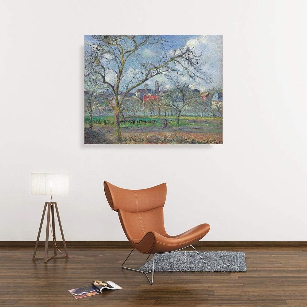 JH Lacrocon Camille Pissarro - Huerto Saint-Ouen-LAumone Invierno ...