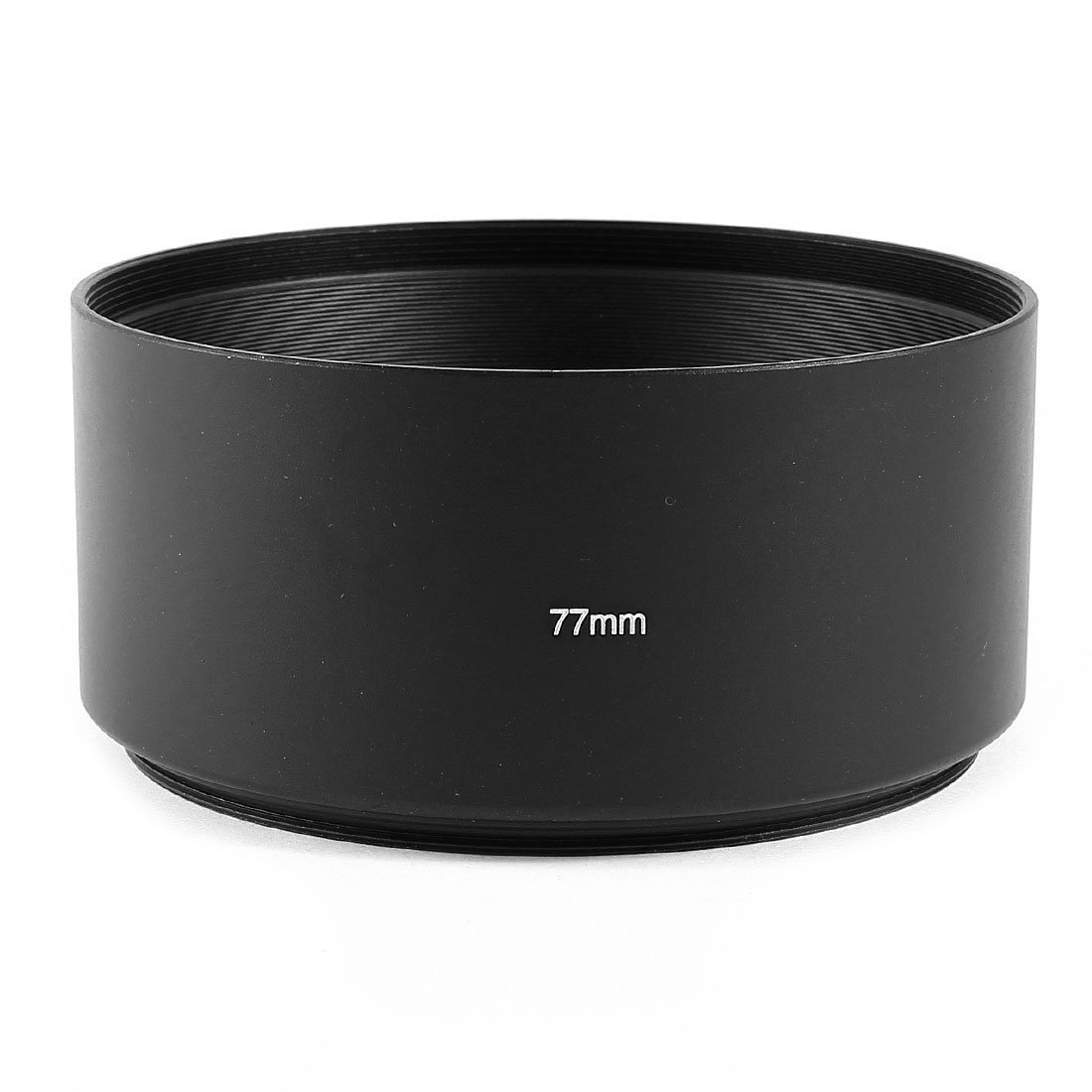 SODIAL(R) Screw Mount 77mm Hood for Telephoto 80-200mm Lens Shade Black 066194