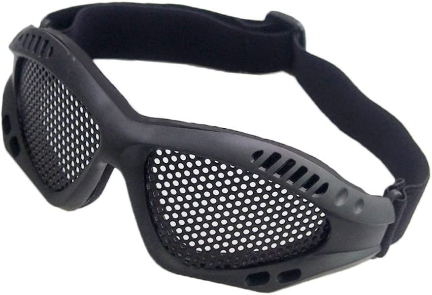 alexsport Metal malla gafas anti niebla gafas lente de malla de alambre para Airsoft Paintball Tactical Shooting