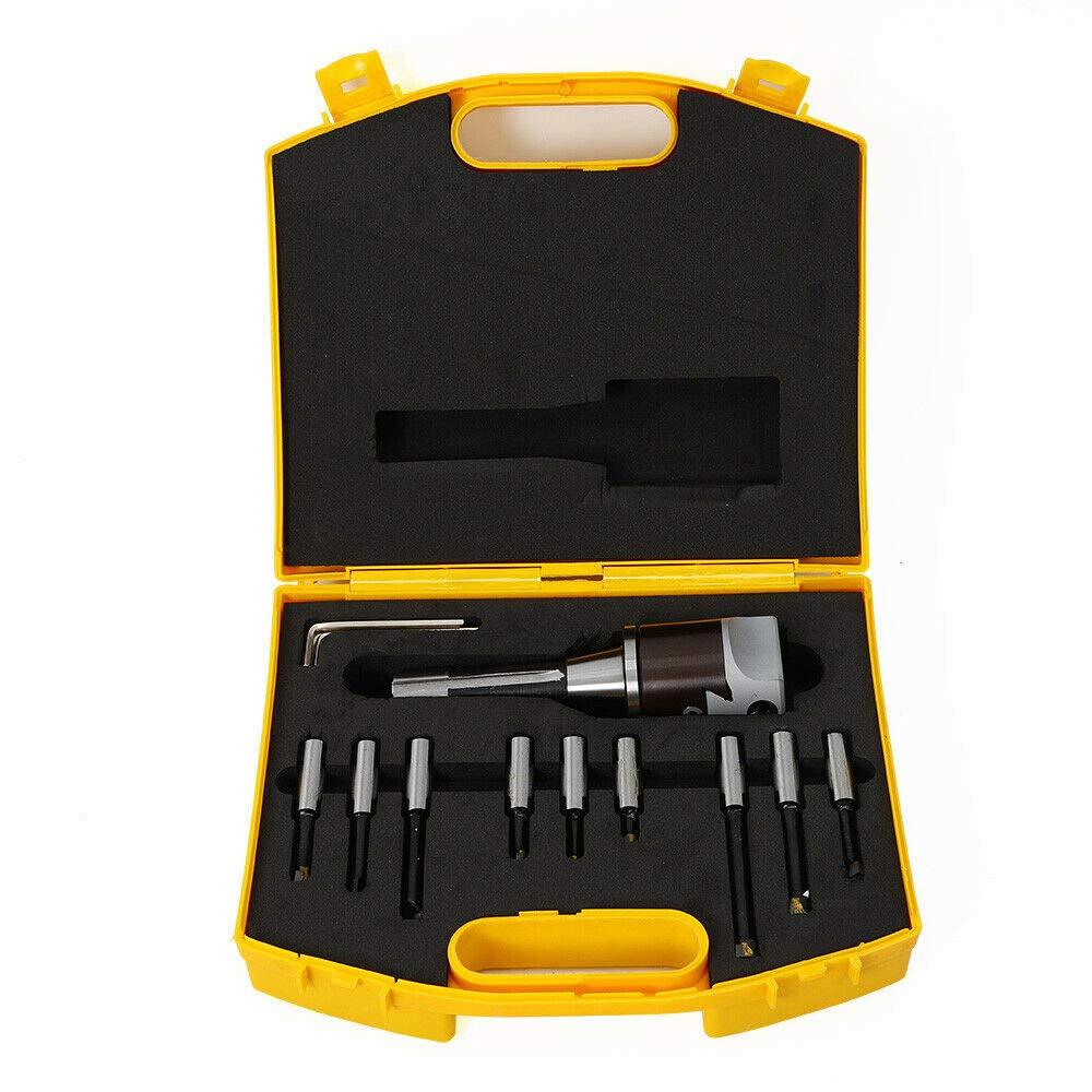 1.5-18 Boring Head 2 With R8 Shank 9pcs 1//2 Boring Bar Set For Bridgeport 2 Boring Head R8 Shank 1//2 Carbide Boring Bar Set Bridgeport Milling Tool