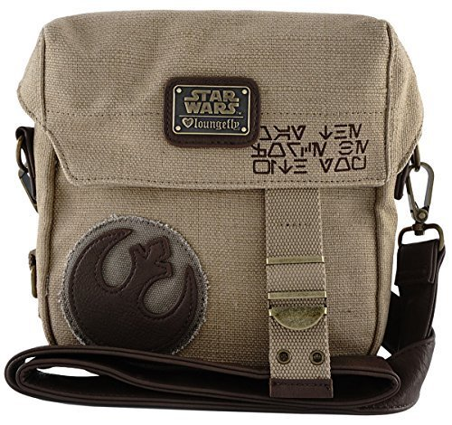 (Loungefly The Force Awakens Star Wars Rebel Convertible Crossbody/Waist Bag Tan One Size)