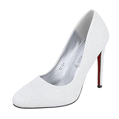 Cingant Woman Damen Pumps/Stilettoabsatz/High Heels/Damenschuhe/Elegante Schuhe/Silber, EU 37