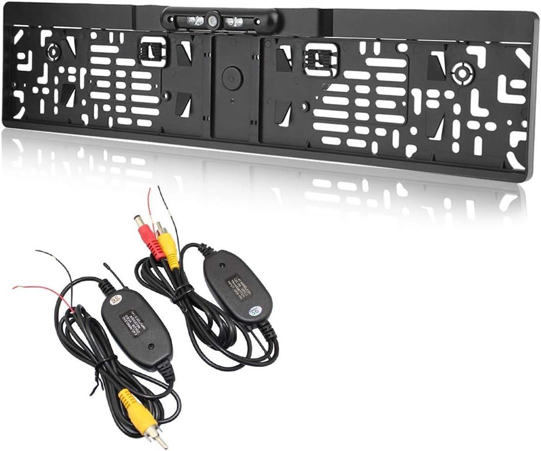 9 Jorshake 170 Ir Farb Rückfahrkamera Nachtsicht Nummernschild Kennzeichen Halter Ip68 Kfz Transmitter Funk