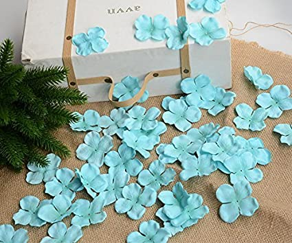 hydrangea petals artificial silk pincushion petal flower bridal shower favors for wedding party supplies table floor