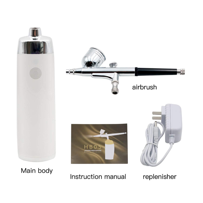 Amazon.com: Pinkiou - Kit de aerógrafo portátil inalámbrico ...