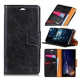 Scheam iPhone X Wallet case iPhone X case,Premium Design PU Leather & Soft TPU Built-in Card/Cash Slots,Wallet Case (Black)