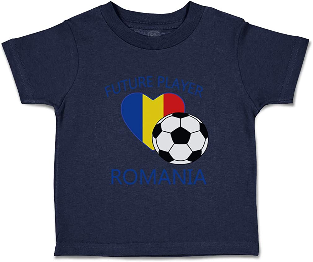 Custom Baby /& Toddler T-Shirt Future Soccer Player Romania Boy Girl Clothes