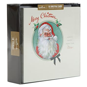 hallmark signature gold and red glitter design boxed christmas card pack of 18 - Christmas Card Packs