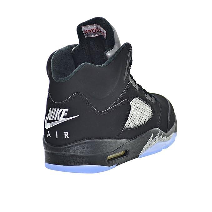 Amazon.com: Air Jordan 5 Retro OG Mens Shoes Black/Fire Red/Metallic Silver/White 845035-003 (12): Sports & Outdoors
