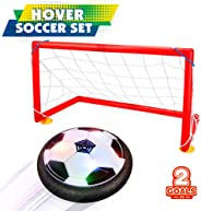 Betheaces Kids Toys Hover Soccer Ball Set 2 Goals Gift Football Disk Toy LED Light Boys Girls Age 2, 3, 4,5,6,7,8-16 Year Ol
