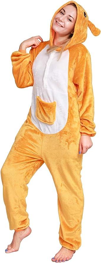 softan Pijama de Animal de una Pieza Unisexo para Adultos con Capucha,Traje de Disfraz,Ropa de Dormir para Festival de Carnaval,Navidad y Halloween