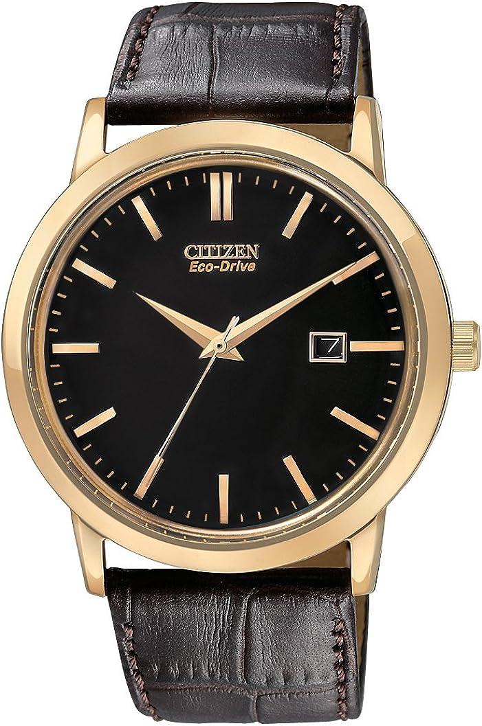 Citizen Men s BM7193-07E Eco-Drive Rose Gold Tone Date Watch