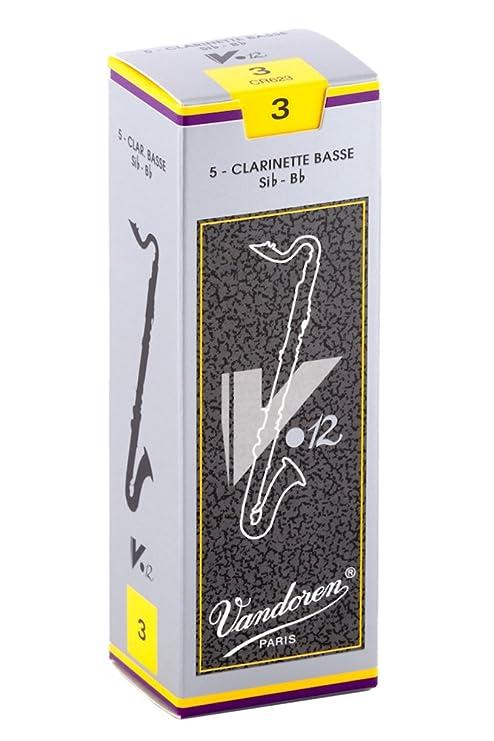 Vandoren CR623 - Caja de 5 cañas para clarinete bajo