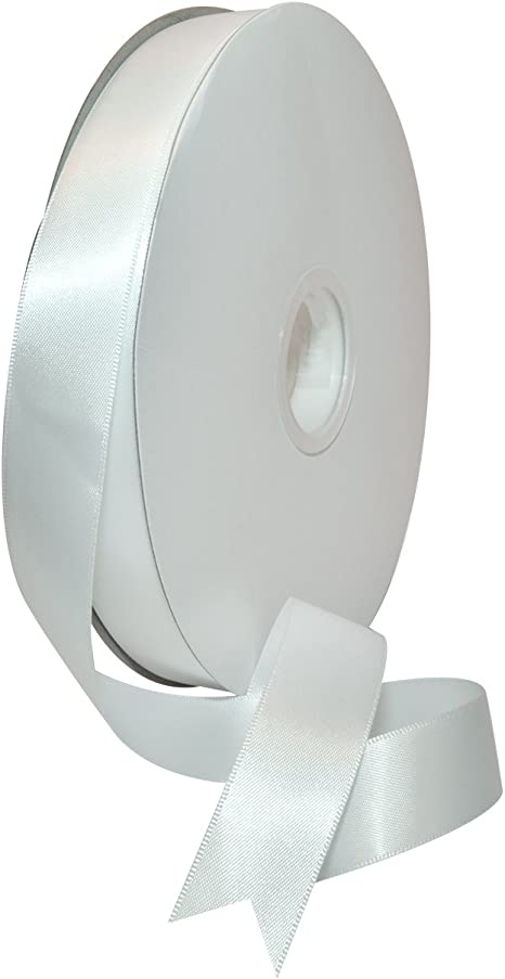 1m Length 25m White Double Sided Satin Ribbon Width Craft Sew