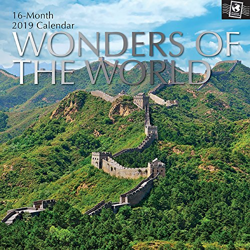 2019 Wall Calendar - Wonders of The World Calendar, 12 x 12 Inch Monthly View, 16-Month, Travel and Destination Theme, Includes 180 Reminder Stickers