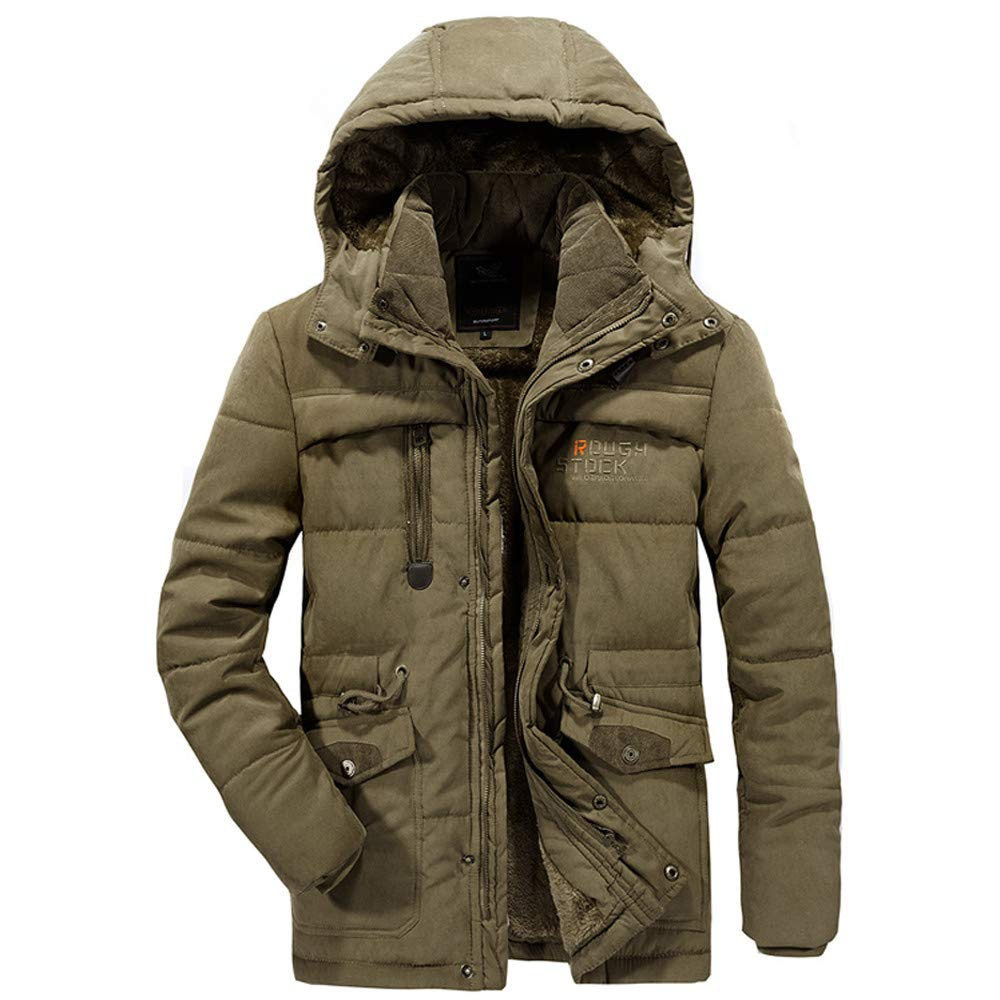 Fashion Men's Winter Velvet Thickened Plus Size Jacket G-Real Padded Windproof Warm Cotton Padded Coat