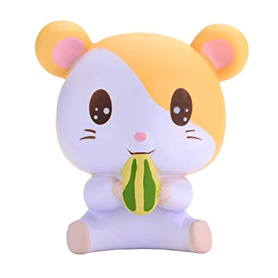 oriker Squishies Pressure-Relief Toy Slow Rising Scented Cute Tori Hamster Squishy 4.7'' High - Yellow: Toys & Games