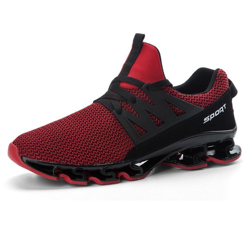 Caï Mens Mens Mens Mesh Turnschuhe 2018 Sommer New 47 Large Größe Herrenschuhe Sportschuhe Mens Knitted Rutschfeste Shockproof Tide Schuhe (Farbe   Rot, Größe   44) 0a9c83