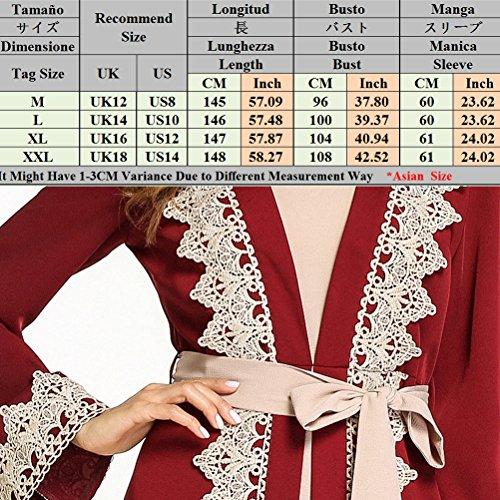 Abiti Kaftan da Musulmani A Donne Modesto Zhhlaixing Linea Abito da Fashion Cocktail Line Eleganti Abiti Rosso BUxqInzw5