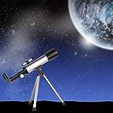 Amazing Land & Sky Telescope - Optical Glass & Metal Tube Refractor Telescope (90X Power) with Tripod & 2 Eyepieces