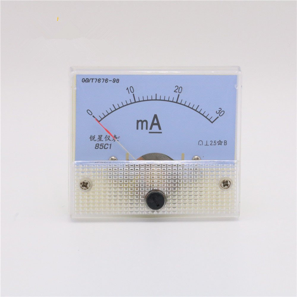 50mA Ammeter HUA 85C1 DC 0-50mA Analog Amp Panel Meter Current for CO2 Laser Engraving Cutting Machine/CO2 Laser Engraver