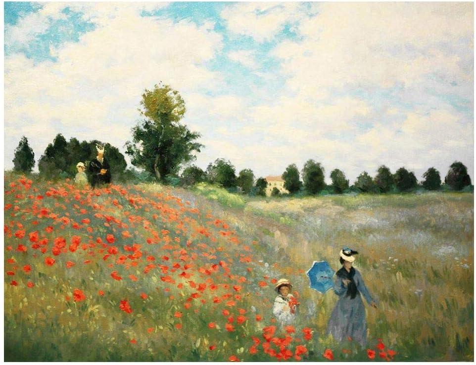 Legendarte Cuadro Lienzo, Impresión Digital - Amapolas En Argenteuil Claude Monet, cm. 80x100 - Decoración Pared