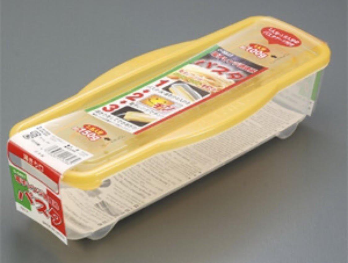 Kantan Microwave Pasta Cooker Case, Plastic, Yellow Sanada FBA__013284