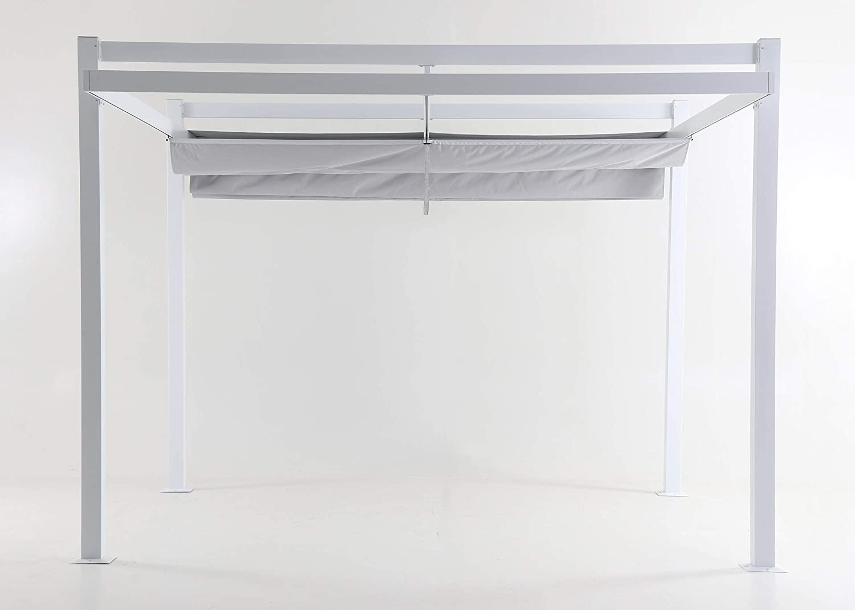 LC Garden Pergola - Parasol (350 x 350 x 260 cm, Aluminio), Color ...