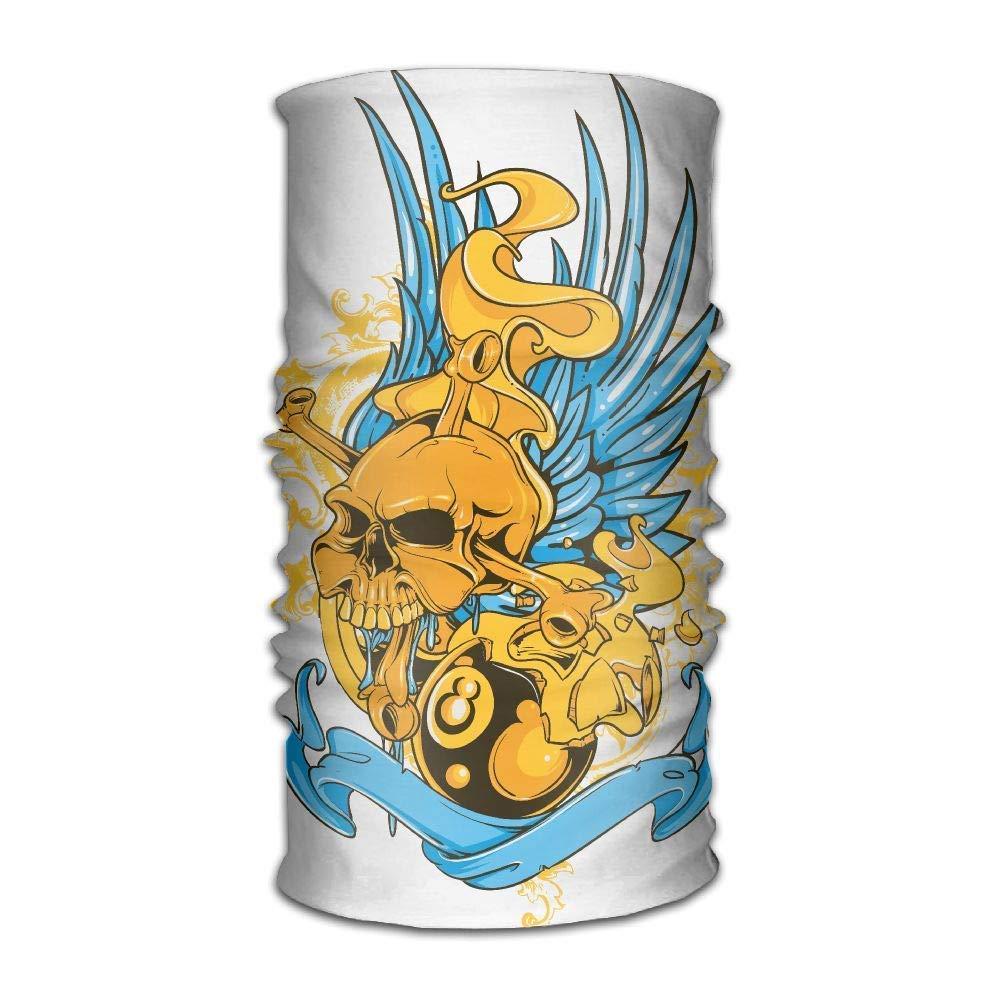Miedhki Blue Wings Skull Original Stirnband Multifunktionssport Freizeit Headwear UV Schutz Sport Hals, Schweißabsorbierendes Mikrofaser Laufen, Yoga, Wandern New4